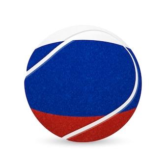 Baseball mit flagge von russland, lokalisiert auf weißem hintergrund.