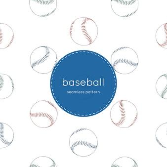 Baseball nahtlose muster.