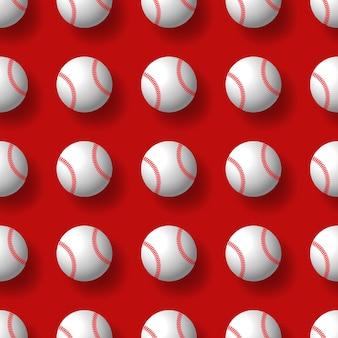 Baseball nahtloses muster tennisball fliesen hintergrund tapete schal isoliert