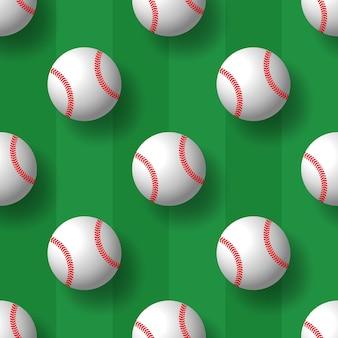 Baseball nahtloses muster tennisball fliesen hintergrund