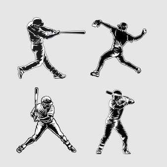 Baseball silhouette illustration