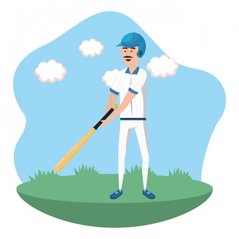 Baseball-spieler-cartoon