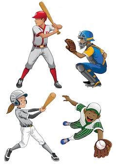 Baseball-spieler eingestellt