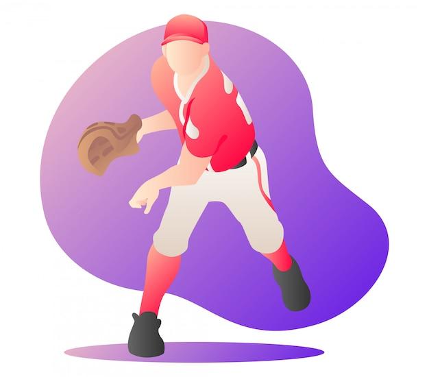 Baseball-spieler-illustration