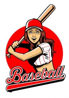 Baseball-spieler mit einem schläger