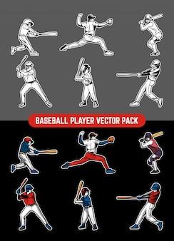 Baseball-spieler-pack