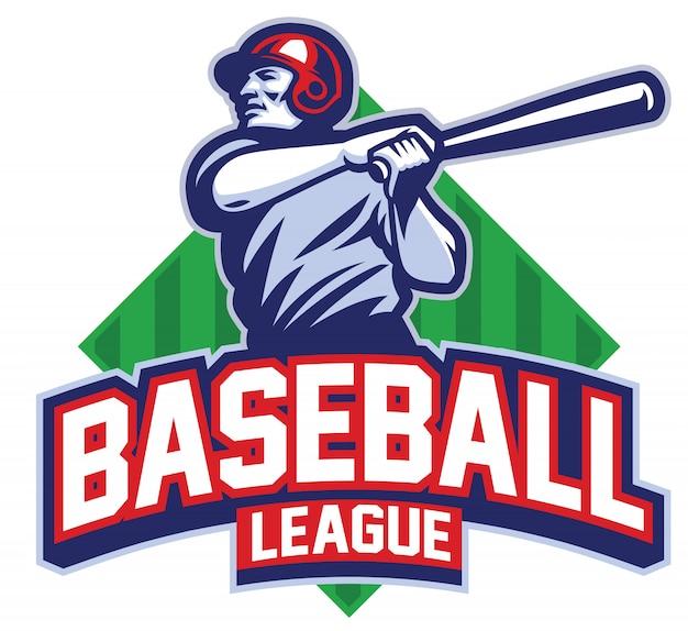 Baseball-spieler schlug den ball