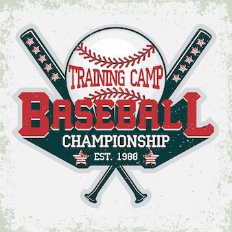 Baseball-typografie-emblem, sportlogo