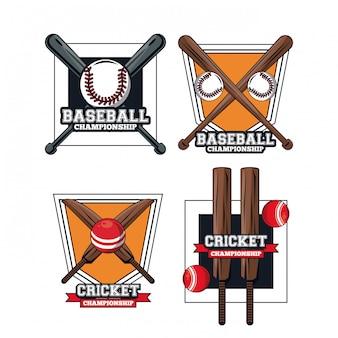 Baseball und kricketspieler