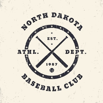 Baseball vintage runder druck, logo, t-shirt design, illustration