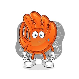 Baseballhandschuh, der harte illustration denkt