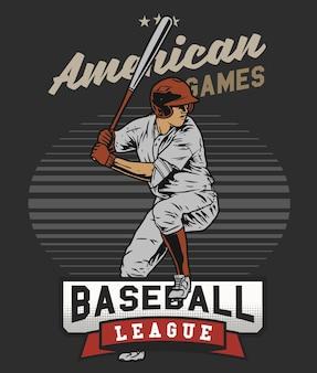 Baseballschläger im feld