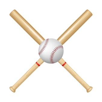Baseballschläger und ball. illustration.
