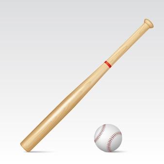 Baseballschläger und baseball. illustration.