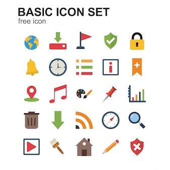 Basic farbige ikonen eingestellt