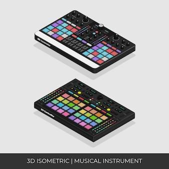 Basierend auf 3d isometrischen benutzerdefinierten dj neon pad controller-set