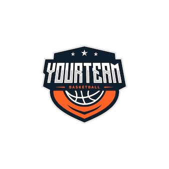 Basketball abzeichen logo design illustration