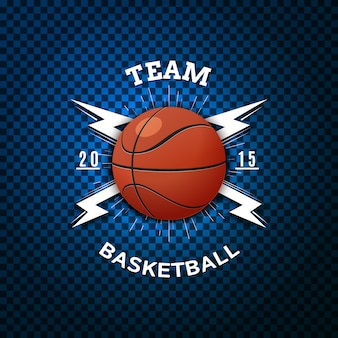 Basketball abzeichen logos und etiketten