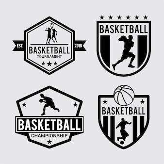 Basketball-abzeichen und logo