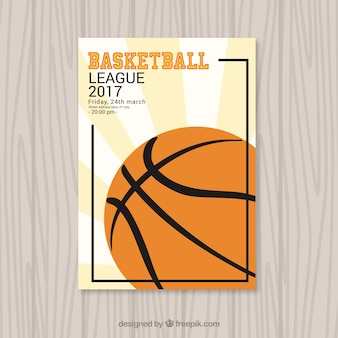 Basketball ball broschüre