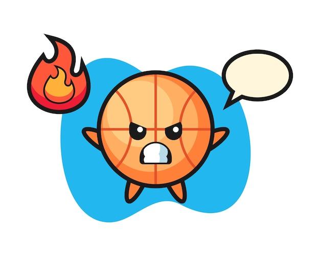 Basketball-cartoon ist wütend