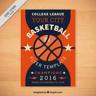 Basketball flyer vorlage