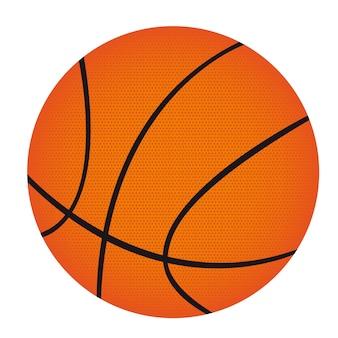 Basketball getrennt über weißer hintergrundvektorillustration