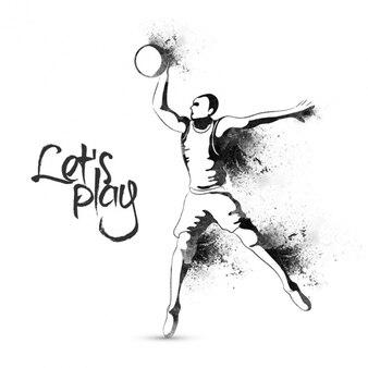 Basketball hintergrund im abstrakten stil