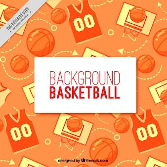 Basketball hintergrund in flaches design