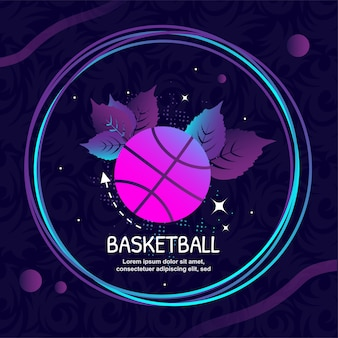 Basketball icon logo vektorillustrationen
