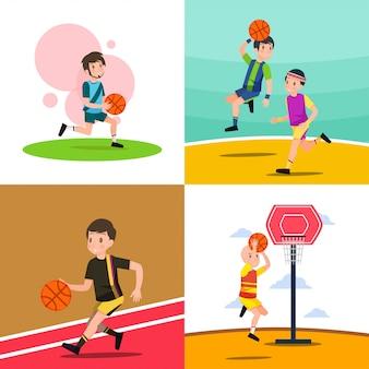 Basketball-illustration spielen