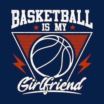 Basketball ist der hintergrund meiner freundin