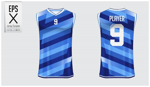 Basketball jersey schablonendesign