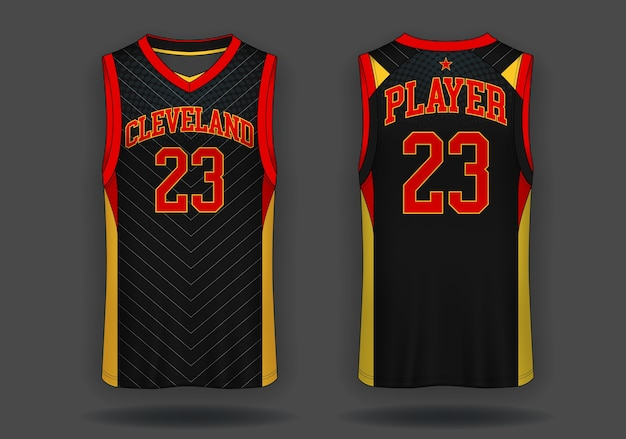 Basketball jersey, trägershirt sport illustration.