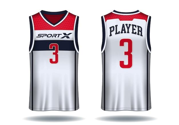 Basketball jersey, trägershirt sport illustration.