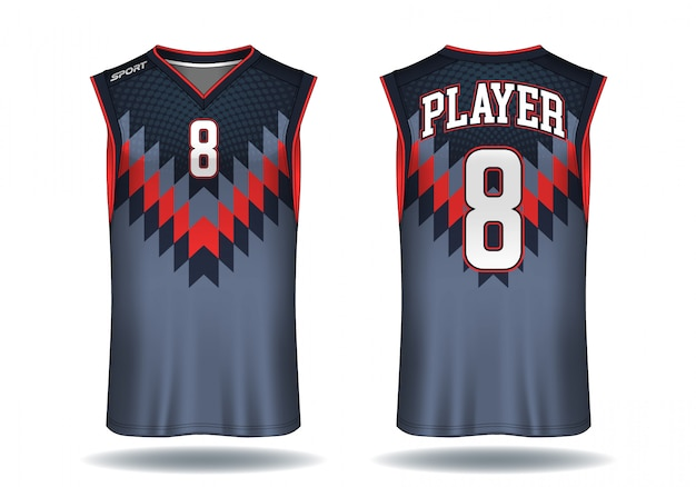 Basketball jersey trägershirt-sportillustration.