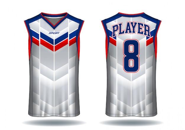 Basketball jersey trägershirt-sportillustration.