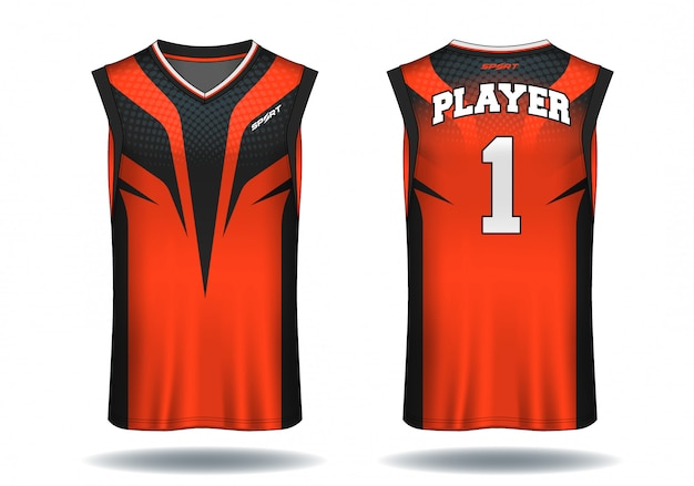 Basketball jersey, trägershirt-sportillustration.
