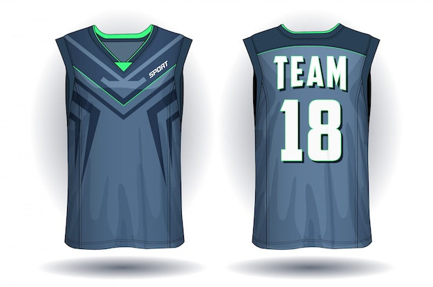 Basketball jersey, trägershirt-sportillustration.