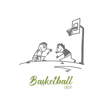 Basketball-konzeptillustration