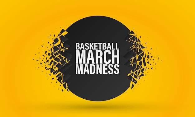 Basketball märz wahnsinn Premium Vektoren