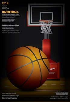 Basketball-plakatwerbung