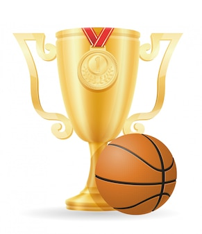 Basketball-pokalsieger gold