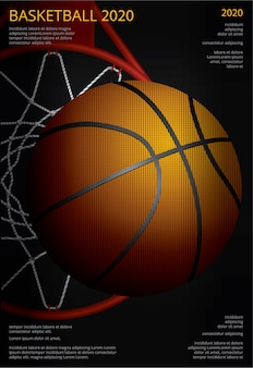 Basketball poster werbung vektor-illustration