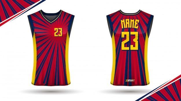 Basketball-shirt-design vorne und hinten