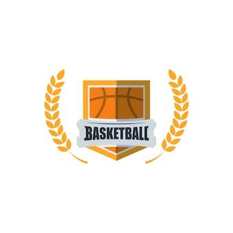 Basketball-spieler-logo-vorlage. kreatives sportspiel