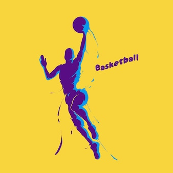 Basketball-spieler-splash