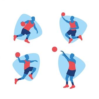 Basketball-sportspieler-vektorentwurf