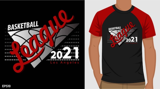 Basketball t-shirt design. typografie t-shirt design