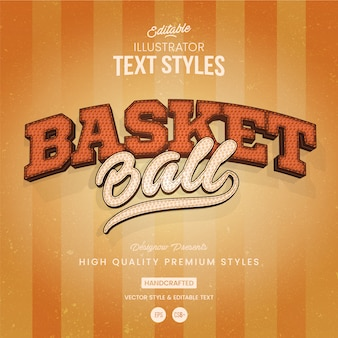 Basketball-textstil